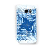 Shibori  blue indigo brush strokes hand painted Samsung Galaxy Case/Skin