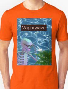 Vaporwave Skeleton - Trippy Plant Unisex T-Shirt