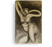 Charcoal Gia Canvas Print