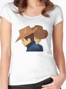 Broke Back Mountain Cowboys! Women's Fitted Scoop T-Shirt