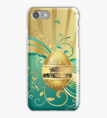 Decorative Easter Background iPhone Case/Skin
