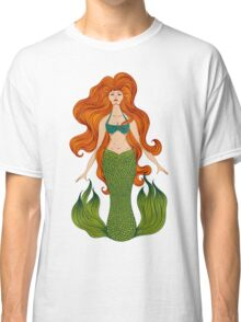 Mermaid with beautiful red hair.  Classic T-Shirt
