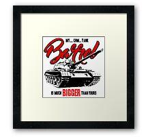 World of Tanks inspired work Framed Print