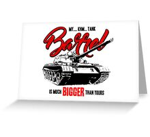 World of Tanks inspired work Greeting Card