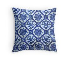 Tile from Portugal Throw Pillow