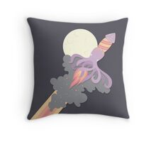 Rocket Squid Throw Pillow