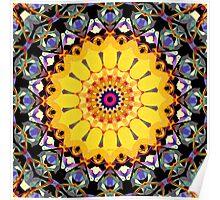 Golden Mandala Abstract Poster