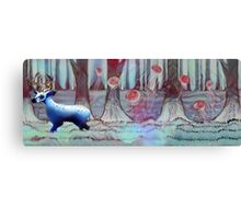 Blue Deer - Psychedelic Canvas Print