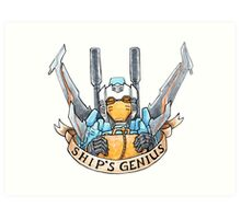 Ship's Genius Art Print