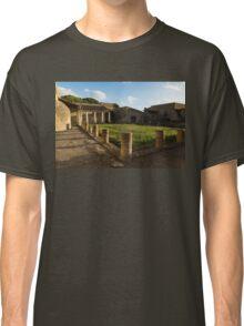 Herculaneum Ruins - Quiet Long Shadows Courtyard Classic T-Shirt