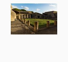 Herculaneum Ruins - Quiet Long Shadows Courtyard Unisex T-Shirt