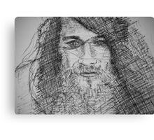 Ink Portrait Canvas Print