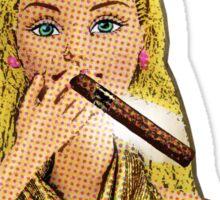 Barbie's Smoking A Cigar! Sticker