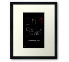 Girl Gamer Framed Print