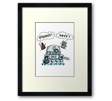 The Inner Workings of the Dalek Mind Framed Print