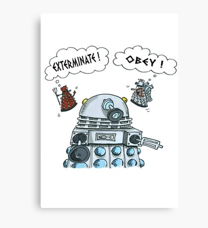 The Inner Workings of the Dalek Mind Canvas Print