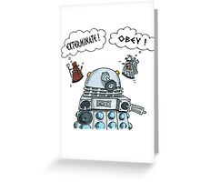 The Inner Workings of the Dalek Mind Greeting Card