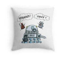 The Inner Workings of the Dalek Mind Throw Pillow