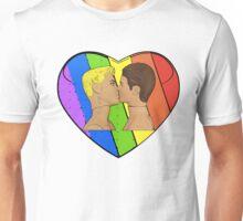 Love & Pride Gay Kiss Unisex T-Shirt