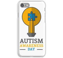 Autism awareness day iPhone Case/Skin