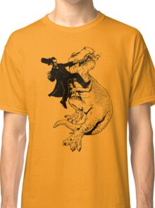 Abraham vs T-rex Classic T-Shirt