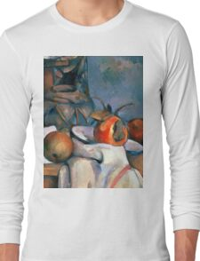 1893 - Paul Cezanne - Ginger Pot with Pomegranate and Pears Long Sleeve T-Shirt