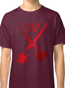 Retro Punk Restyling   - Black Flag red scissors Classic T-Shirt
