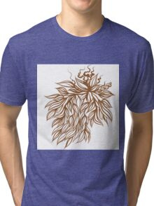 Floral illustration Tri-blend T-Shirt
