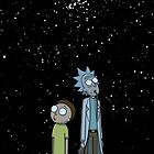Rick and Morty x Calvin and Hobbes by SiwanKassa