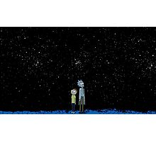 Rick and Morty x Calvin and Hobbes Photographic Print