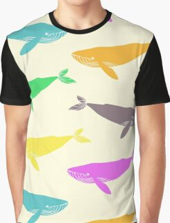 Blue whales. Graphic T-Shirt
