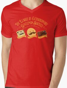 The League of Extraordinary Gentleman Biscuits Mens V-Neck T-Shirt