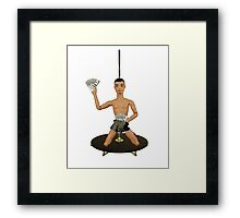 Pole Dancing Chippendale! Framed Print