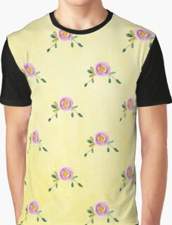 LOVELY roses on yellow - pattern Graphic T-Shirt
