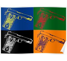 Pop art guns Poster