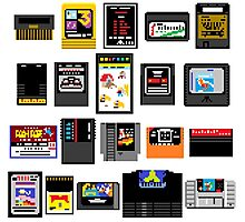 Vintage Game Carts Photographic Print