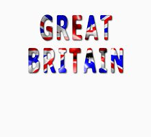 Great Britain Word With Flag Texture Unisex T-Shirt
