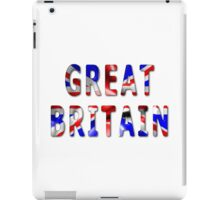 Great Britain Word With Flag Texture iPad Case/Skin