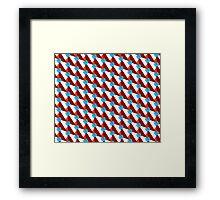 Trendy geometry pattern Framed Print