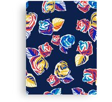 Bright Flowers Pattern Canvas Print