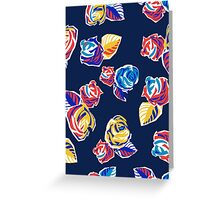 Bright Flowers Pattern Greeting Card