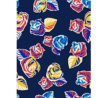 Bright Flowers Pattern Photographic Print