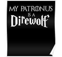 My Patronus is a Direwolf Poster
