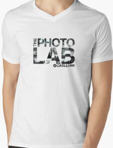 Photo Lab Collage Logo Mens V-Neck T-Shirt