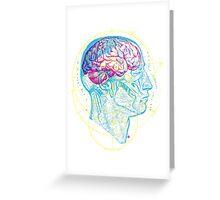Head and Brain Greeting Card