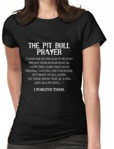 The Pit Bull Prayer Womens Fitted T-Shirt