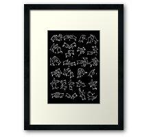 BSL alphabet Framed Print