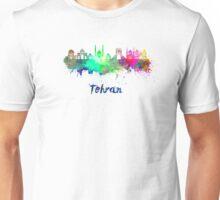 Tehran skyline in watercolor Unisex T-Shirt