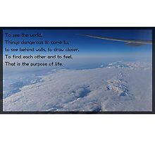 Walter Mitty Motto Photographic Print
