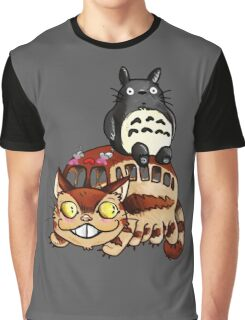 Catbus and Totoro - A Fun Ride Graphic T-Shirt